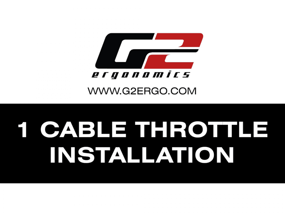 1 cable throttle installation
