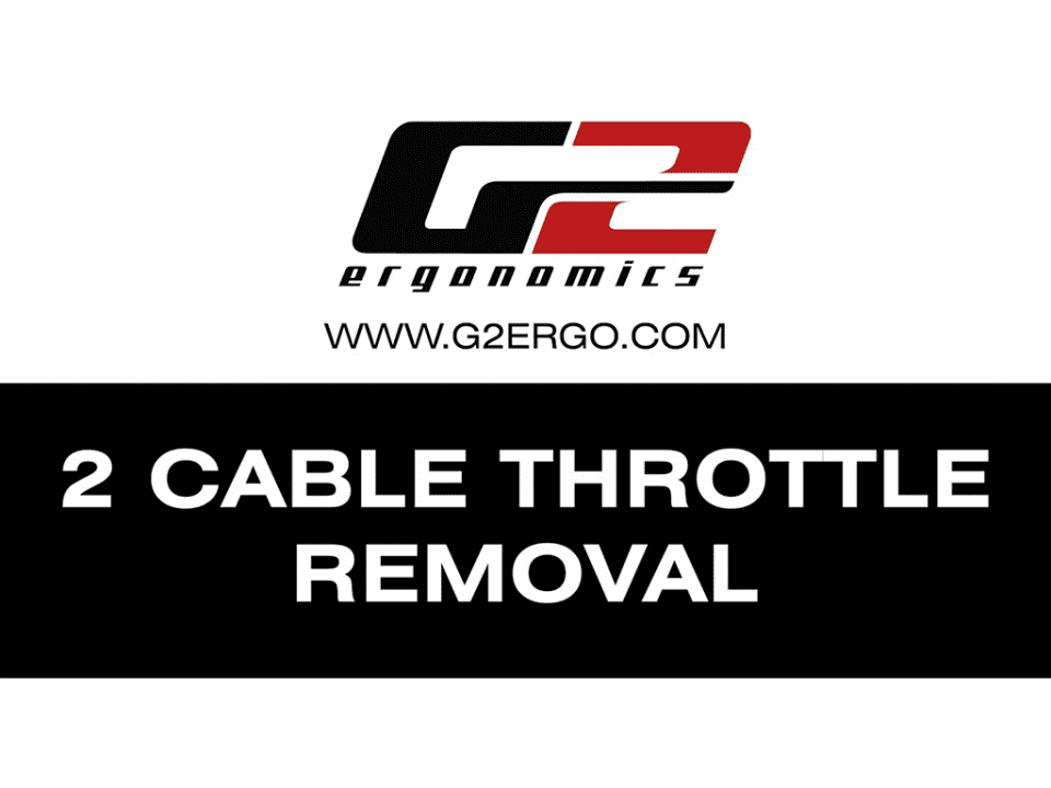 2 cable throttle removal